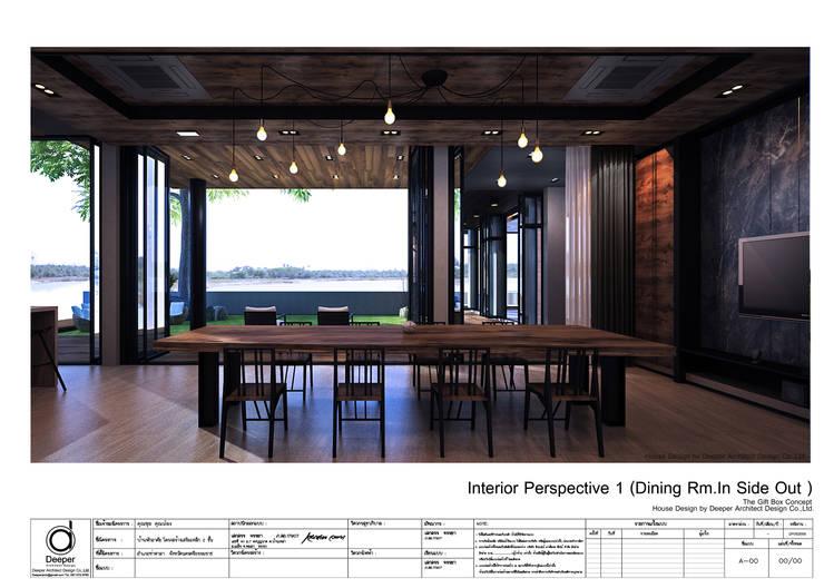 Dining room:   by บริษัท ดิปเปอร์ อาร์คิเทค ดีไซน์ จำกัด