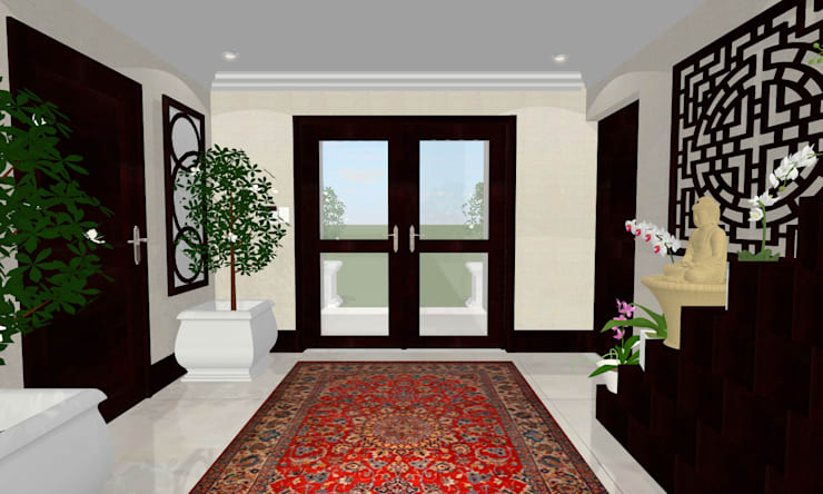 HOUSE G:  Corridor, hallway & stairs  by Kirsty Badenhorst Interiors