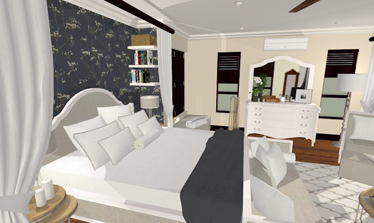 HOUSE G:  Bedroom by Kirsty Badenhorst Interiors