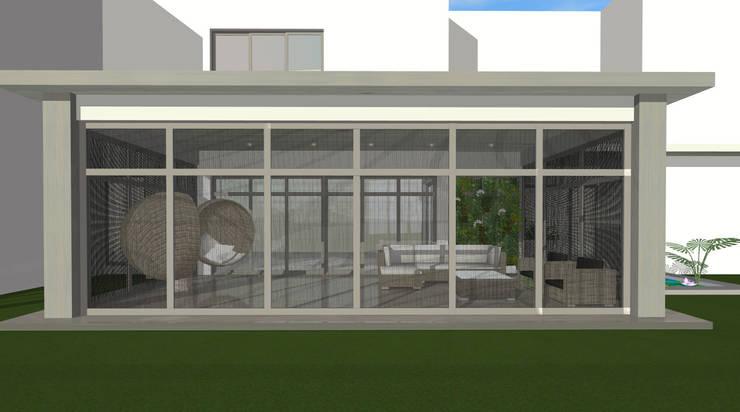 House N:  Patios by Kirsty Badenhorst Interiors