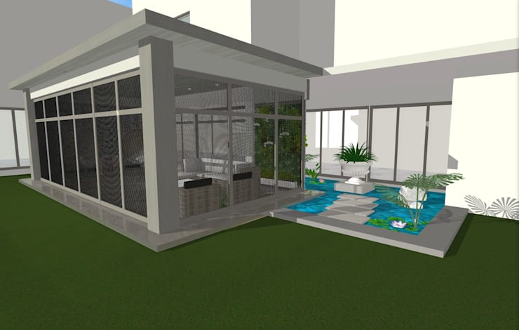 House N:  Patios by Kirsty Badenhorst Interiors