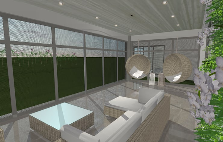 House N:  Patios by Kirsty Badenhorst Interiors, Modern
