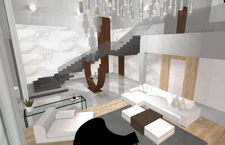 House N:  Corridor & hallway by Kirsty Badenhorst Interiors, Modern