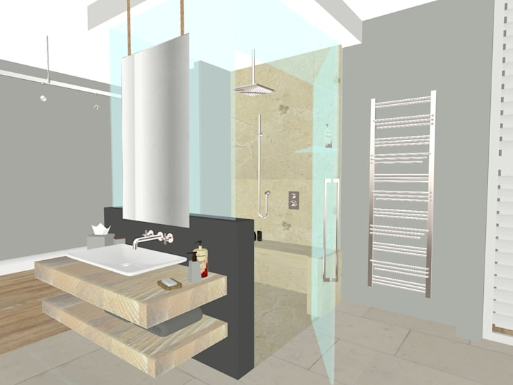House N:  Bathroom by Kirsty Badenhorst Interiors