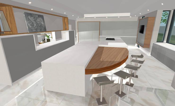 House N:  Kitchen by Kirsty Badenhorst Interiors