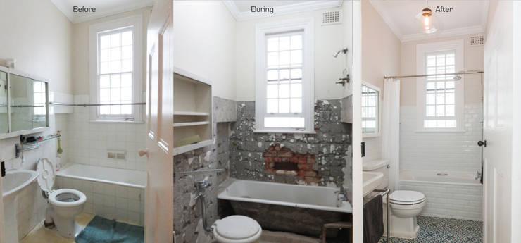 Bathroom Renovation:  Bathroom by Trait Decor