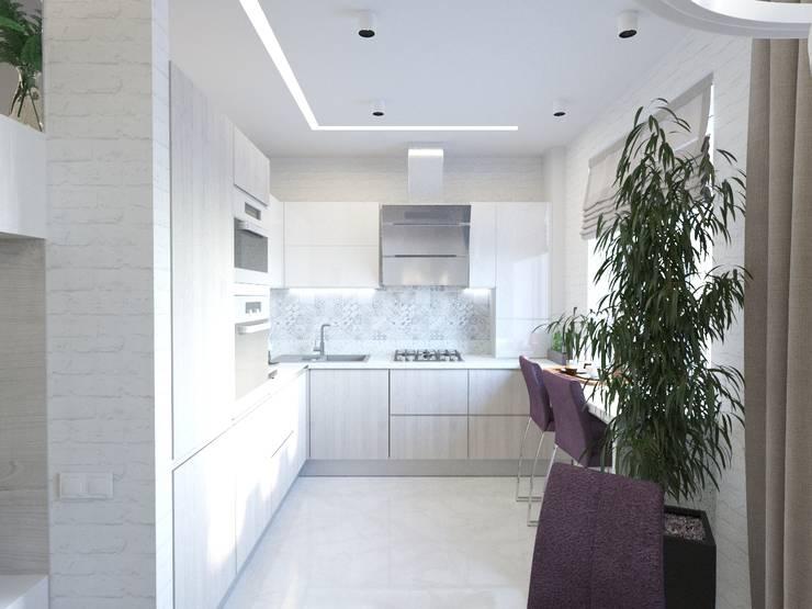 Проект квартиры для молодой семьи: Кухни в . Автор – blackcat design