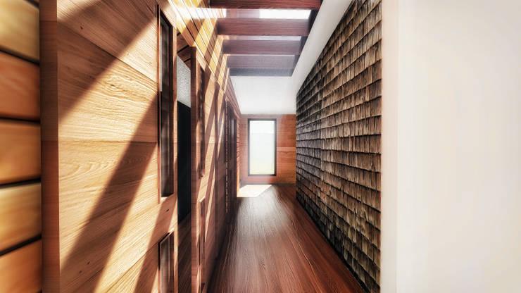 Pasillo : Paredes de estilo  por GerSS Arquitectos