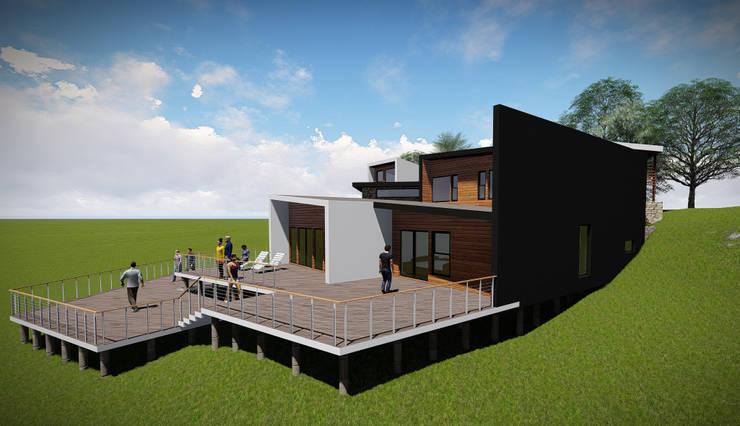 Fachada Lateral Derecha: Casas de estilo  por GerSS Arquitectos