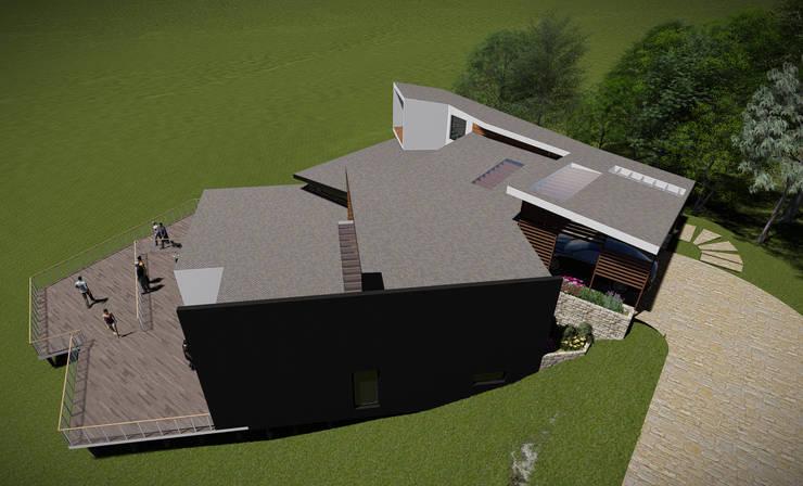 Vista de la Cubierta: Casas de estilo  por GerSS Arquitectos