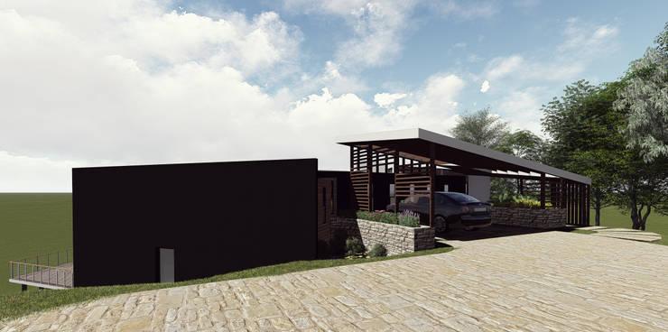 Vista Estacionamiento : Casas de estilo  por GerSS Arquitectos