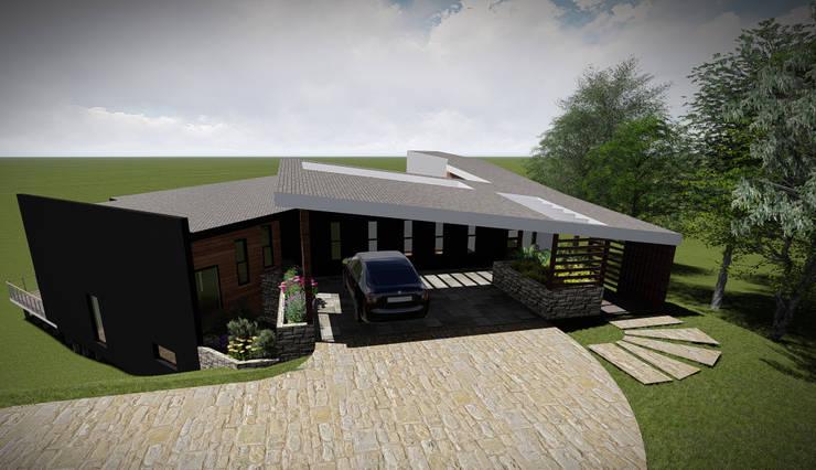 Vista Acceso: Casas de estilo  por GerSS Arquitectos