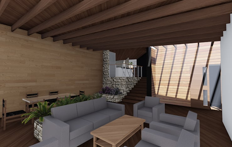Living - Comedor : Livings de estilo  por GerSS Arquitectos