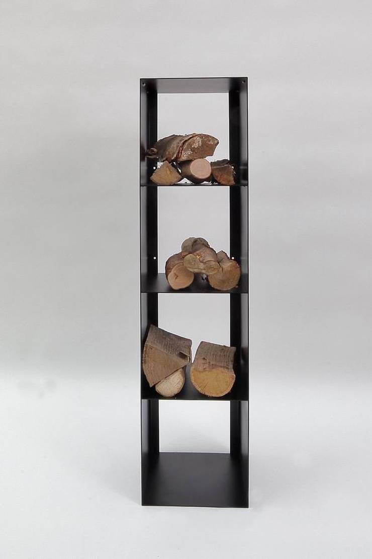 regal f r kaminholz von metall gestaltung dipl designer. Black Bedroom Furniture Sets. Home Design Ideas