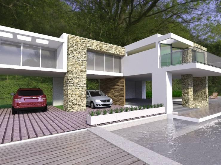 Casa campestre ara rural de Santa Marta: Casas de estilo  por Arq Hernando Fuentes Diseños