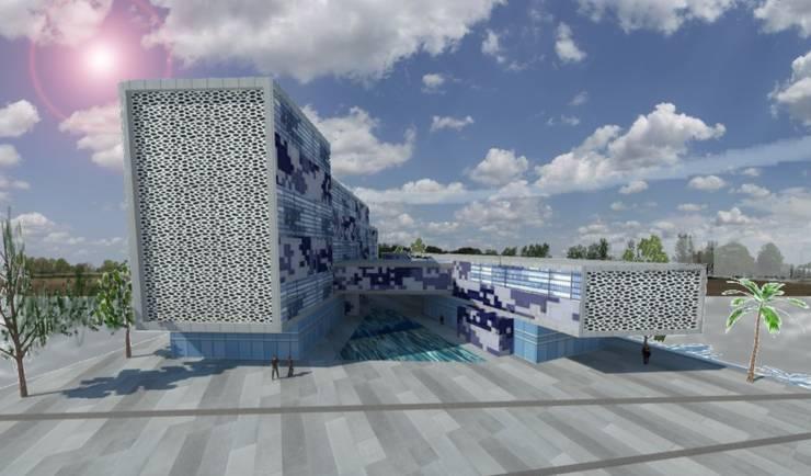 concurso edificio publico: Edificios de Oficinas de estilo  por ARQUITECTURA VANGUARDIA