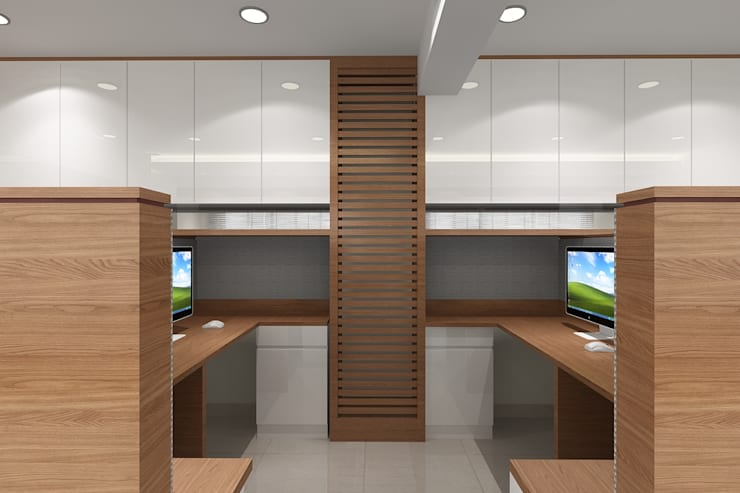 Staff Area: modern Study/office by Mah-Dee group