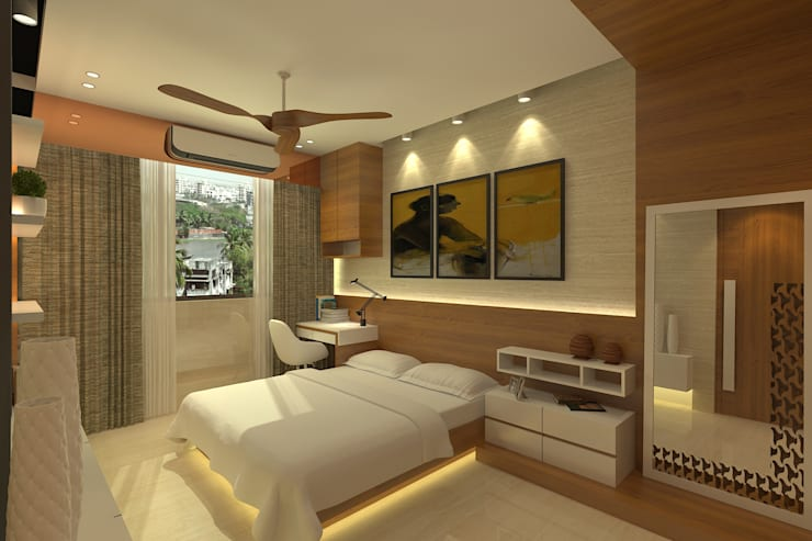 Modern Residence: modern Bedroom by Mah-Dee group