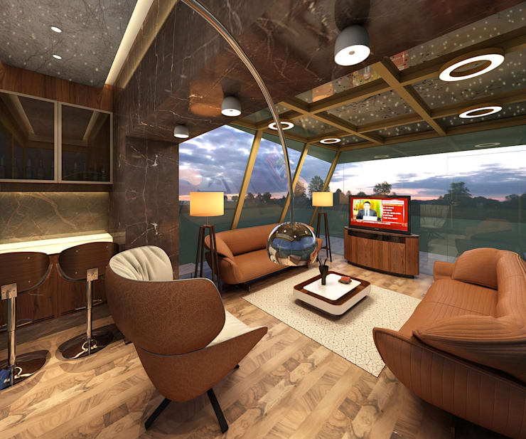Sky Lounge: modern Media room by Mah-Dee group