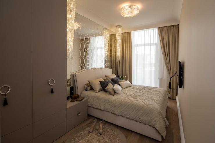 Apartament Glamour: styl , w kategorii Sypialnia zaprojektowany przez CAROLINE'S DESIGN