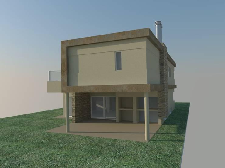 VIVIENDA MODERNA 200m2: Casas de estilo  por LOSADA ARQUITECTURA,