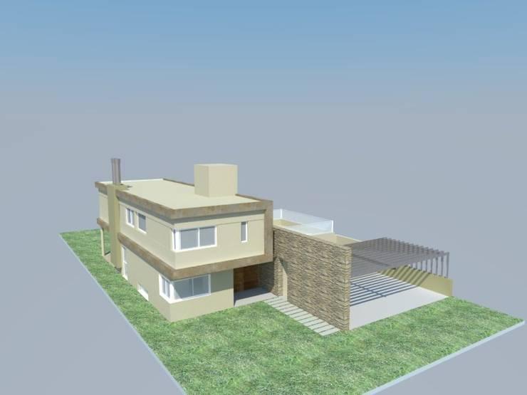 PROYECTO Y CONTRUCCION VIVIENDA: Casas de estilo  por LOSADA ARQUITECTURA,