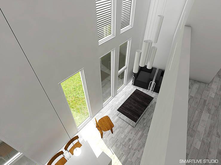 Proyecto Inmobiliario Refugio Alma : Paredes de estilo  por Smartlive Studio