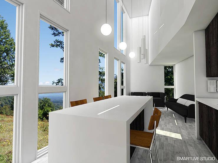 Proyecto Inmobiliario Refugio Alma : Comedores de estilo  por Smartlive Studio