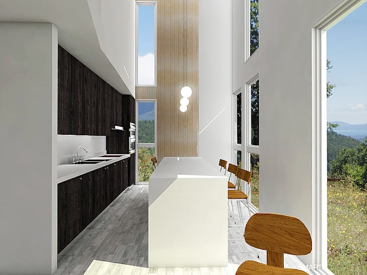 Proyecto Inmobiliario Refugio Alma : Cocinas de estilo  por Smartlive Studio