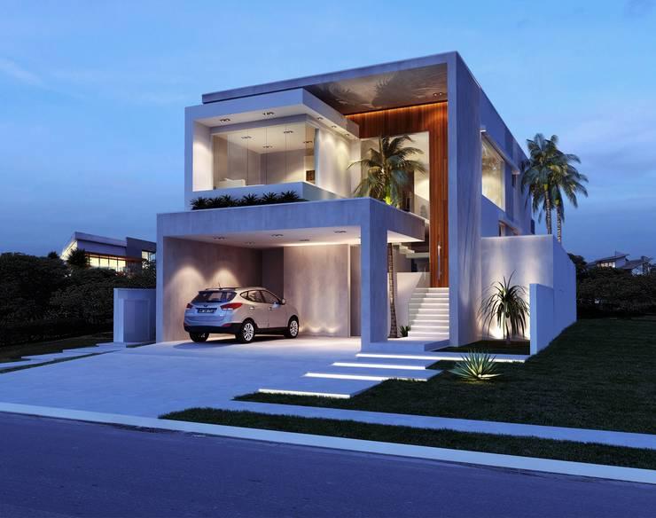 Sapucaias Home: Casas  por Alessandra Duque Arquitetura & Interiores