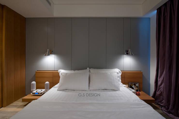 台北大直北歐風住宅:  臥室 by 八軒室內裝修工程有限公司