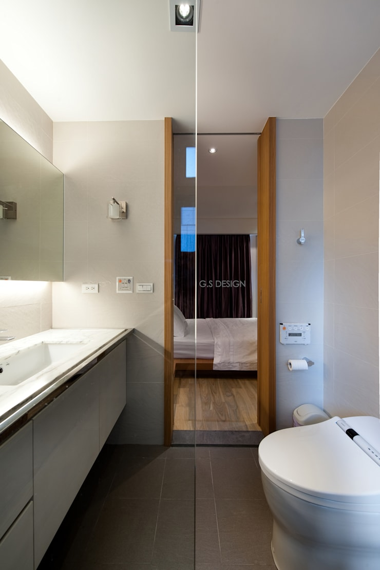 台北大直北歐風住宅:  浴室 by 八軒室內裝修工程有限公司