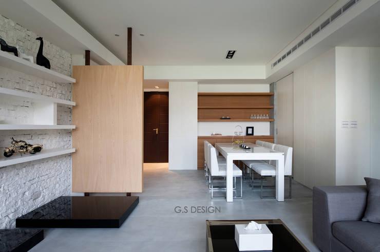 台北大直北歐風住宅:  餐廳 by 八軒室內裝修工程有限公司