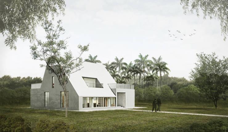 3D模擬圖:   by 哈塔阿沃建築設計事務所 hataarvo architects