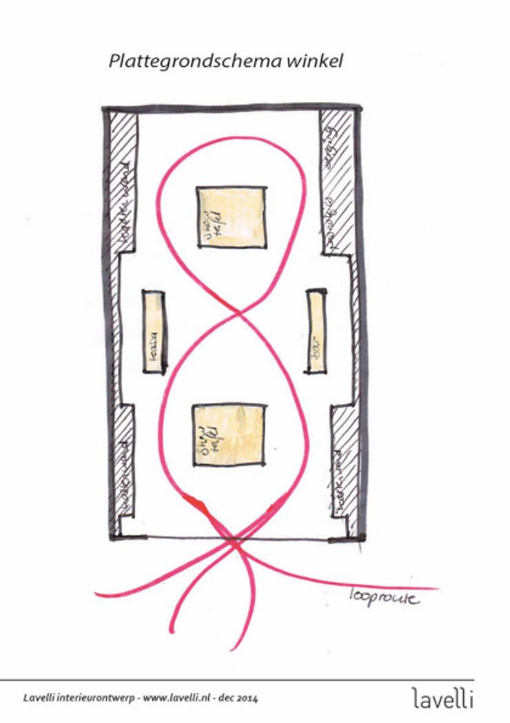 plattegrondschema :  Kantoren & winkels door Lavelli interieurontwerp