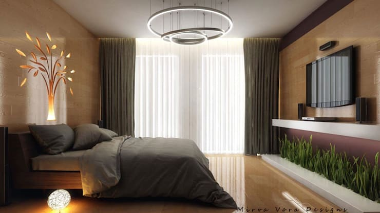 3D Designs By Mirva Vora Designs.: modern Bedroom by Mirva Vora Designs