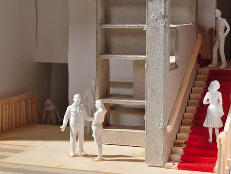 Close-up maquette:  Kantoren & winkels door Lavelli interieurontwerp