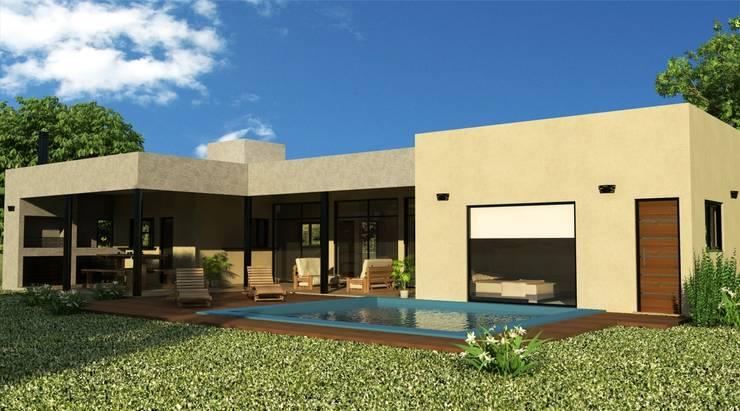 Proyecto casa unifamiliar: Casas de estilo  por Valy,