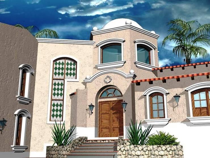 Proyecto de Vivienda unifamiliar: Casas de estilo  por Valy,Colonial Ladrillos