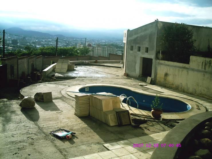 Ampliación piscina y quincho: Piletas de estilo  por Valy