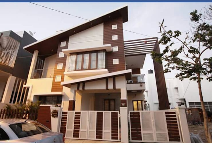 Prakash Arrthy residence:  Houses by montimers