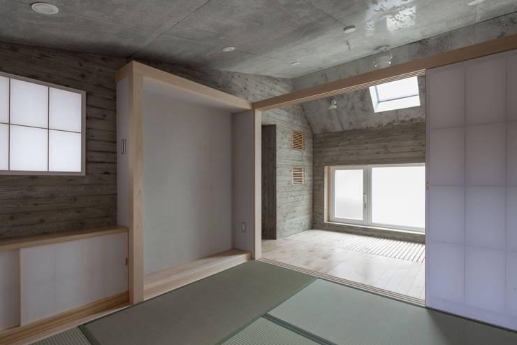 成瀬のオフグリッドハウス: abanba inc.が手掛けた和室です。