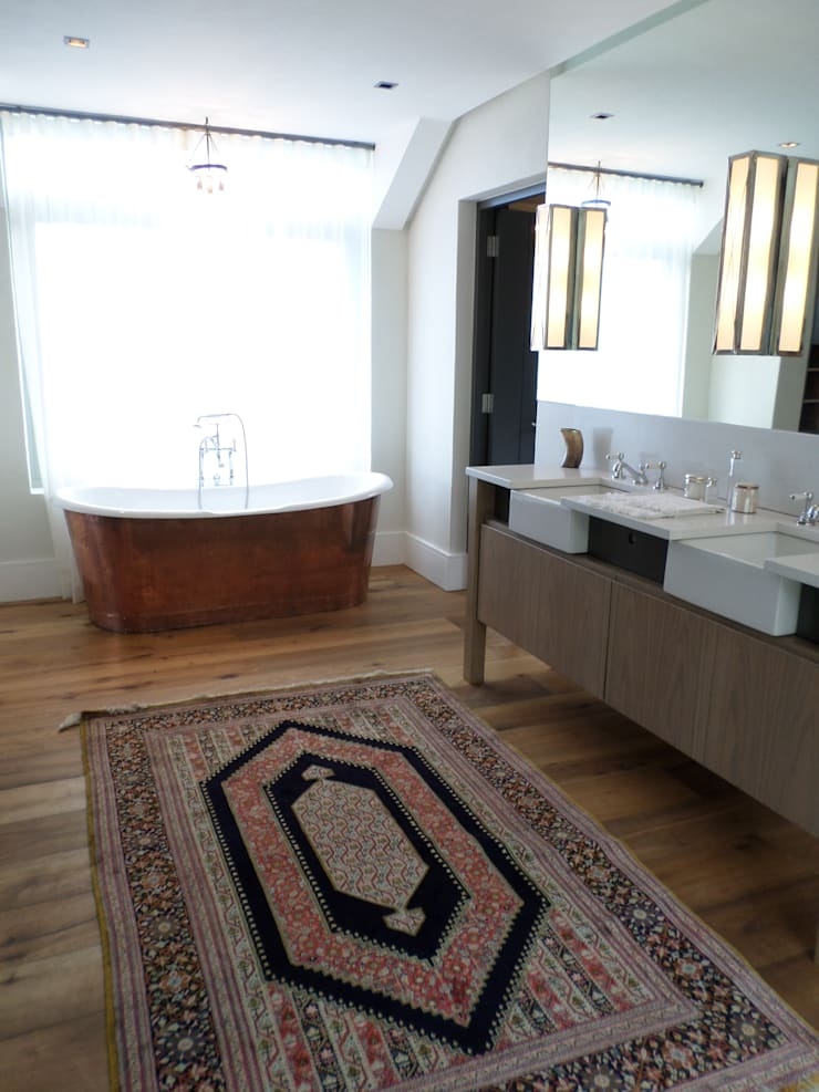 .Master Bathroom: eclectic  by Claire Cartner Interior Design, Eclectic Copper/Bronze/Brass