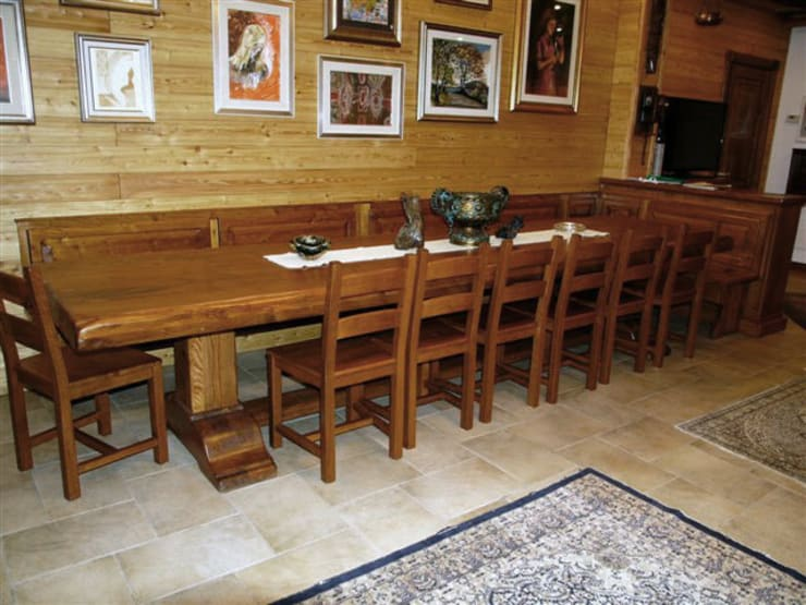 Credenza Per Taverna : Tavolo taverna sala hobbies in legno su misura artigianale