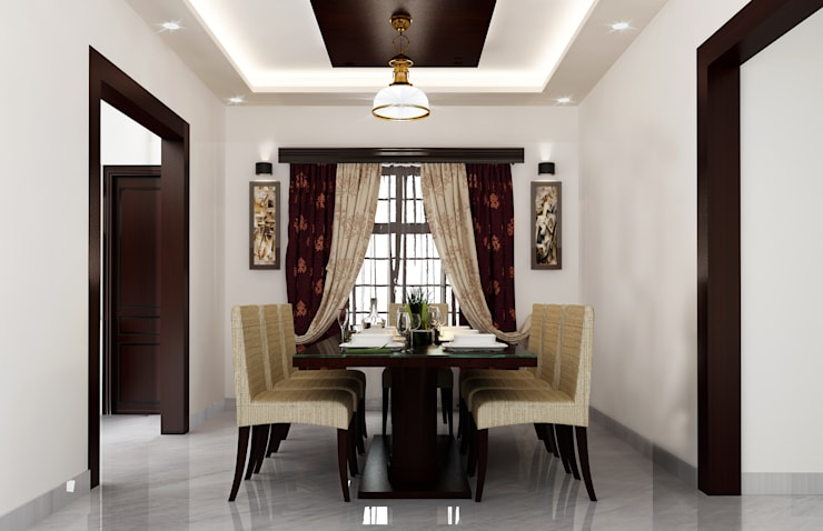 Dining Hall:  Dining room by Karigar Kreation Architects