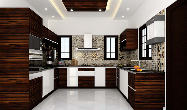 modern Kitchen تنفيذ Karigar Kreation Architects