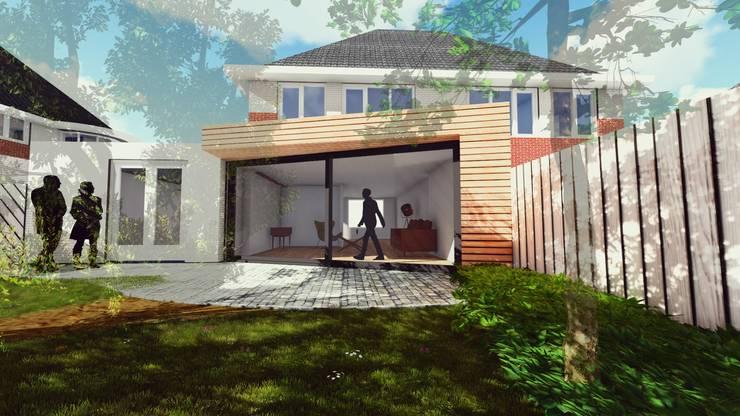 Aanbouw Woning Assen:  Huizen door RABARB Architecten, Scandinavisch