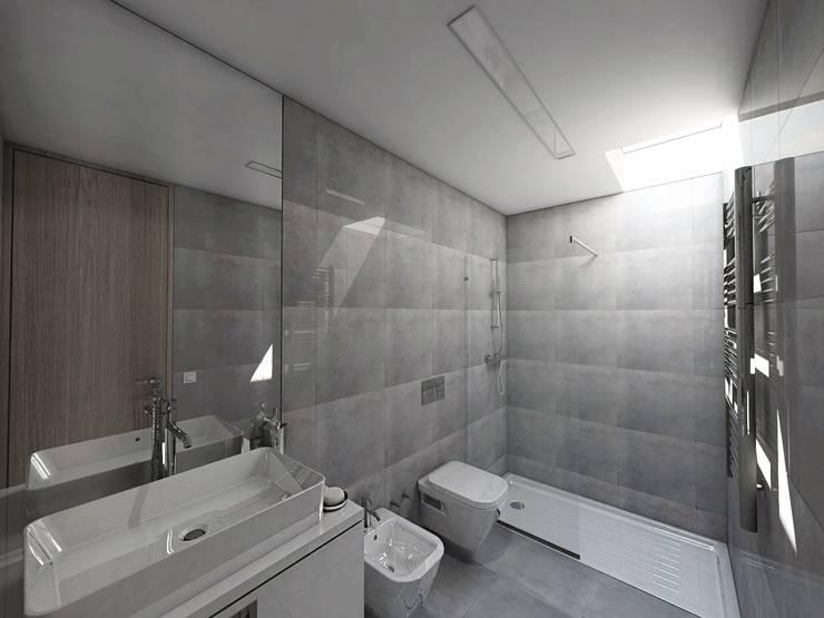 Projekty,  Łazienka zaprojektowane przez NUNO DURAO ARQUITECTOS