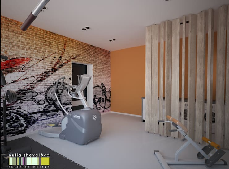 Eclectic style gym by Мастерская интерьера Юлии Шевелевой Eclectic