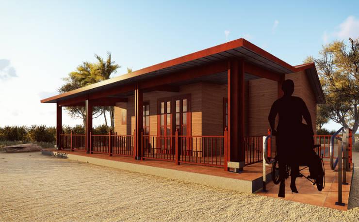 Casa prefabricada en madera: Casas de estilo  por JMGLL - Arquitecto